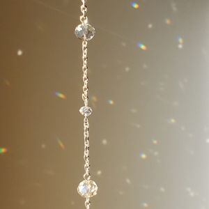 """""""Crystal"""" necklace light up the room"""